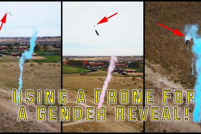 Using a Drone to do a Gender Reveal! (Phantom Series)