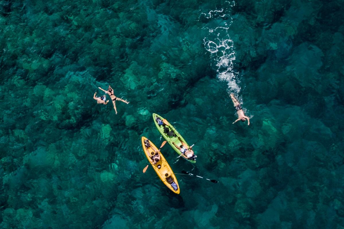 Swim, Snorkel, Kayak