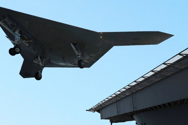 New US Drone Fighter Catapulted From Aircraft Carrier: Northrop Grumman's X-47B