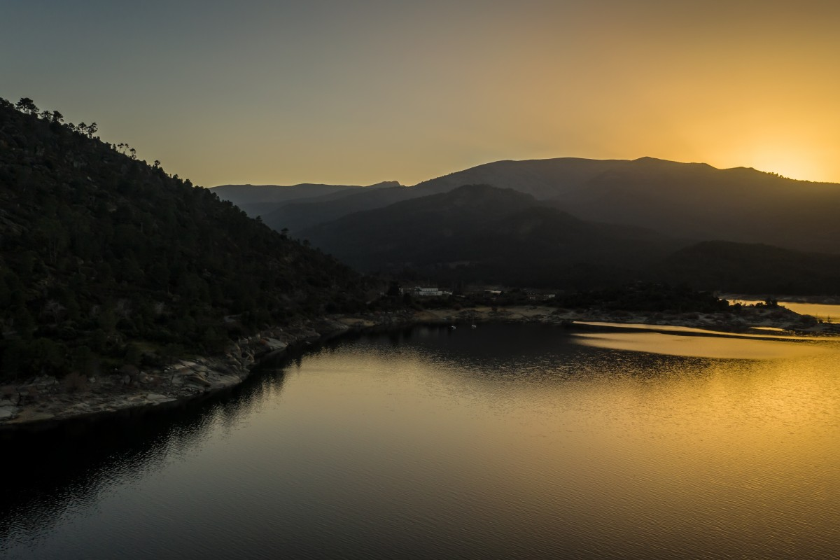 Sunset in El Tiemblo, Spain