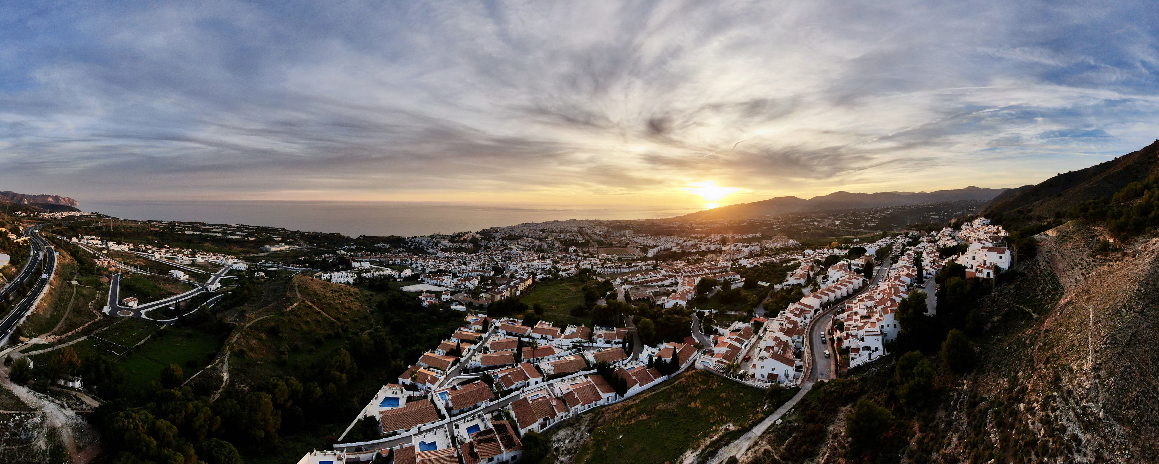 Panoramic on Nerja
