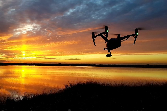 Inspire 2 capturing a Kentish sunset