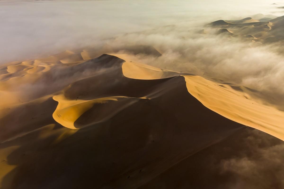 Abu Dhabi Desert – misty sunrise