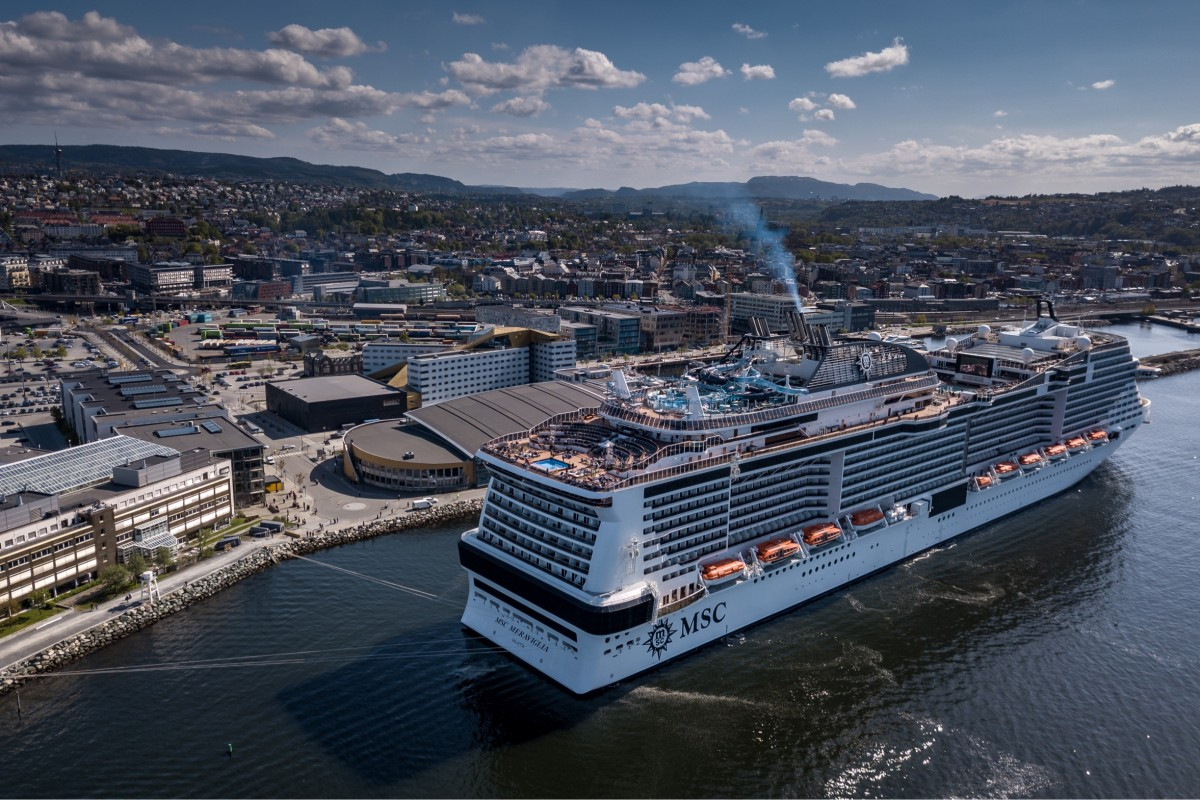 Msc Meraviglia at Trondheim