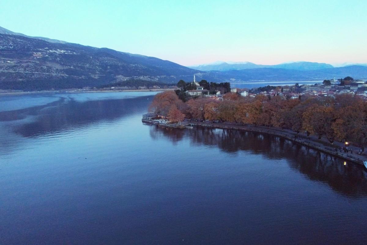 Beautiful lake Greece