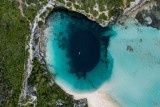 Dronie from Dean's Blue Hole in Long Island, Bahamas
