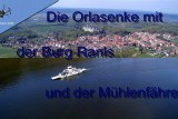 Orlasenke and Hohenwarte Lake at Thuringia