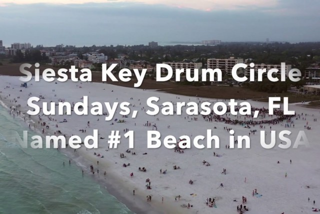 Siesta Key Beach Drum Circle, Sarasota, Florida, #1 beach in the USA (Trip Advisor)