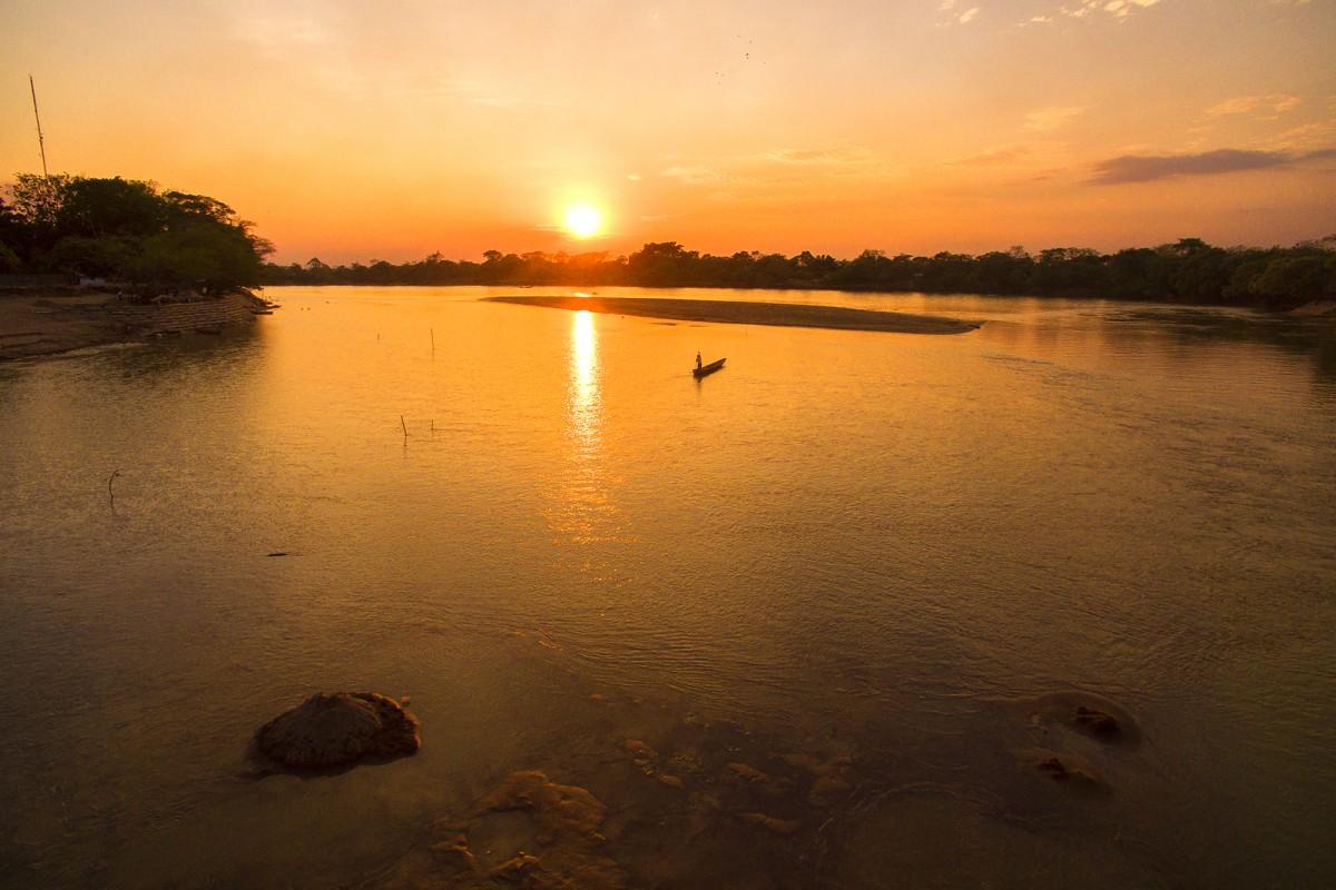 Atardecer en el rio Arauca