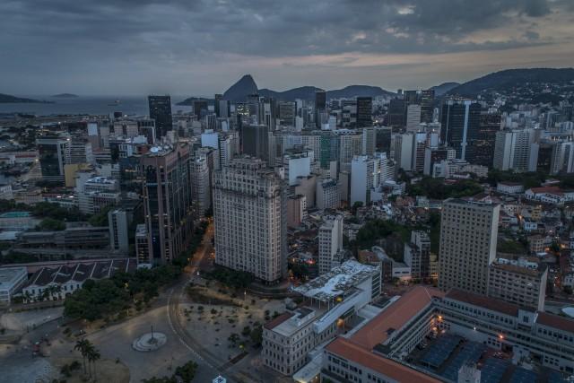 Rio de Janeiro skyscrapers district