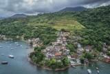 Brazil coast village