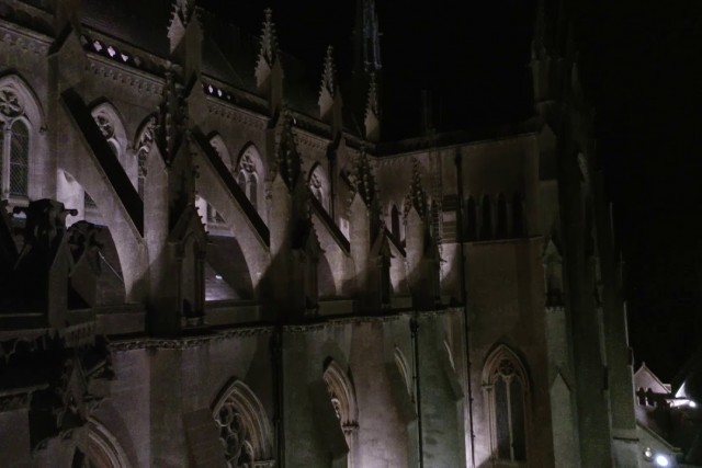 Arundel Cathedral Night Drone Video