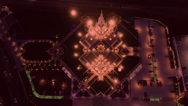 LDS Temple lights