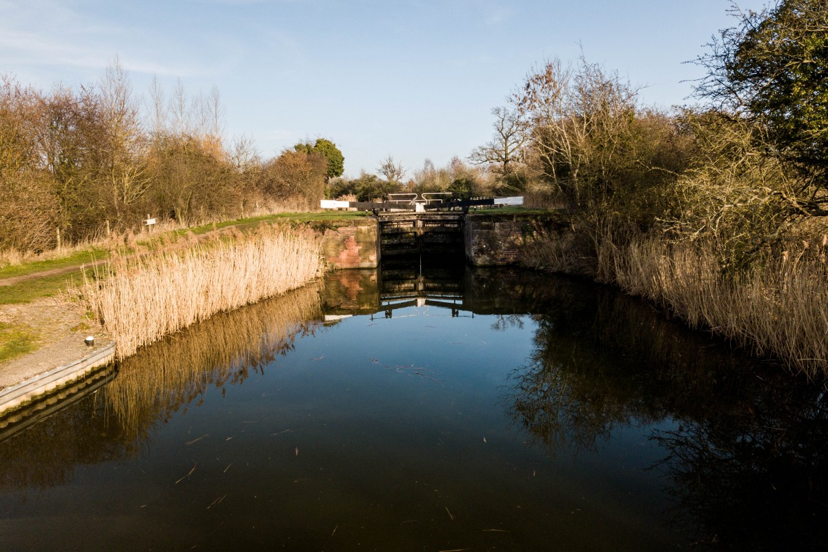 Hatford lock on the river Severn