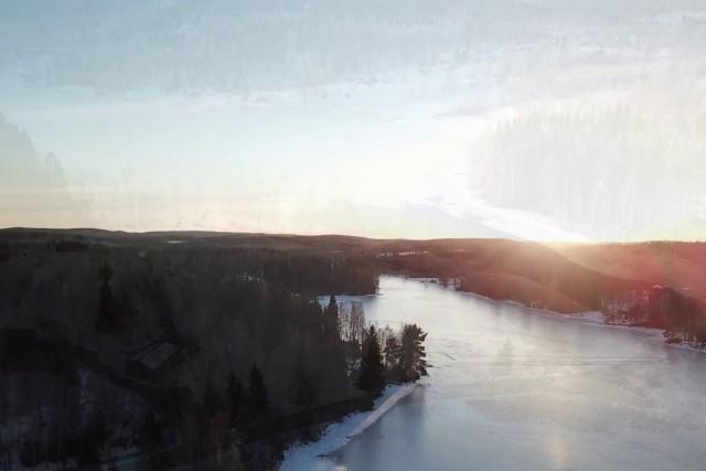 Wintertime in Dalarna, Sweden