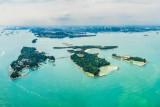 St John's, Lazarus and Seringat islands in Singapore. Panoramic Shot.