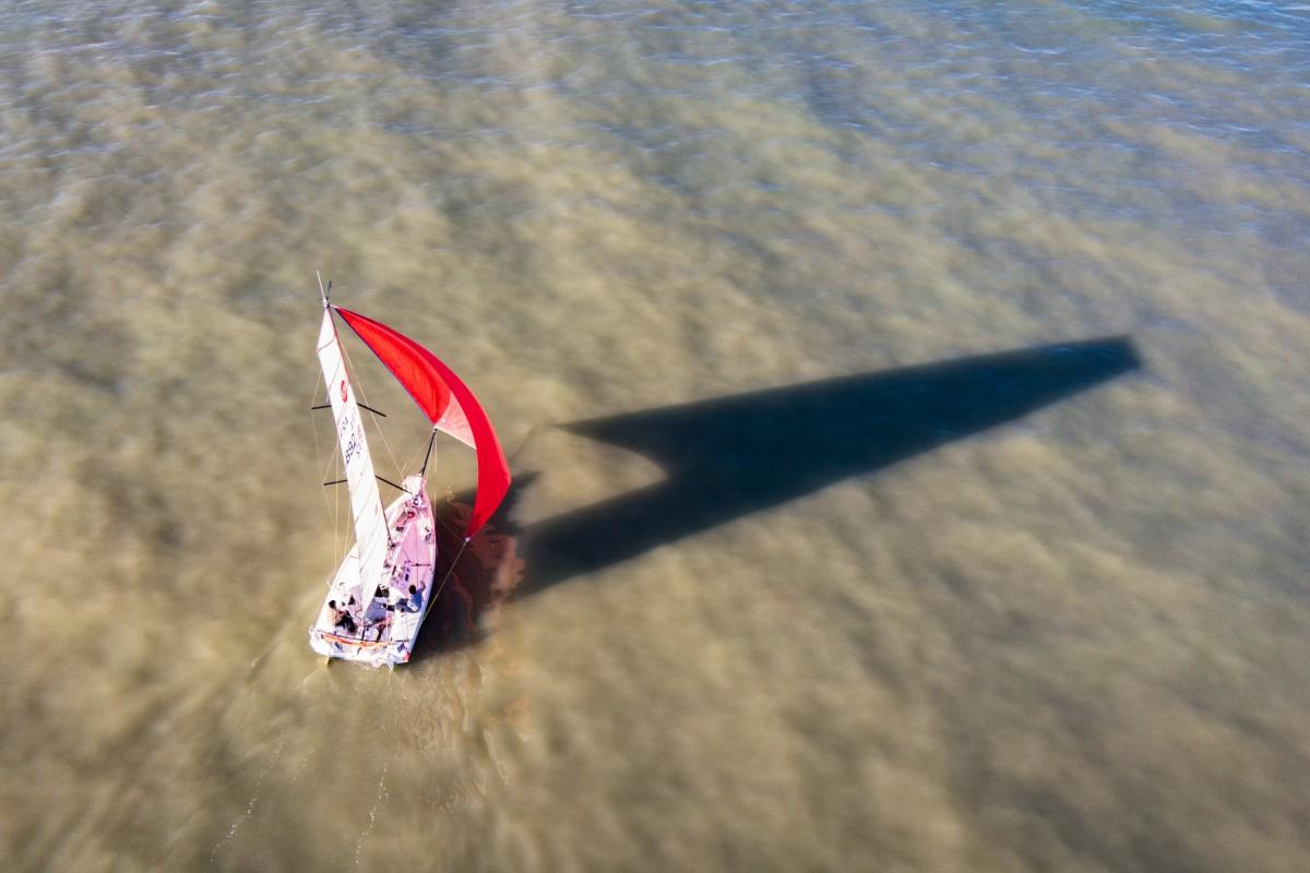 Sailboats off La Rochelle