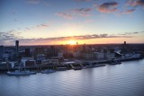 Liverpool sunrise over the River Mersey