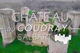 Vue de drone du Château du Coudray Salbart