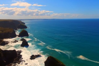 Beautiful Bedruthan Beach in Cornwall
