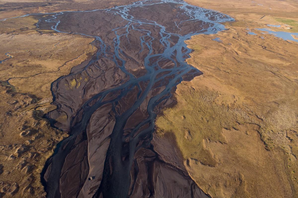 River delta, Iceland