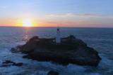 Sunset over Godrevy Lighthouse, Cornwall