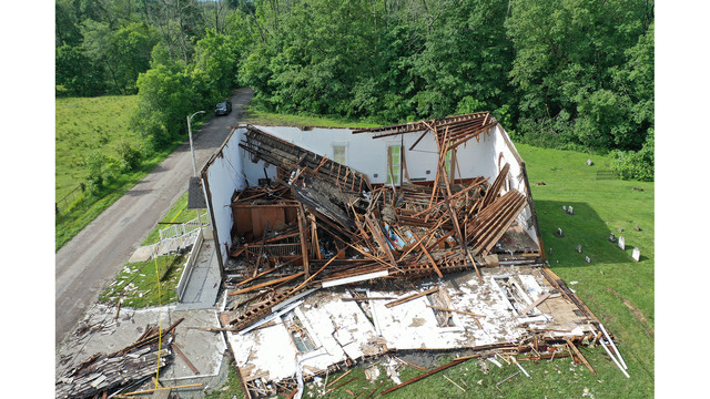 Drone Footage Shows Storm Damage in Fayette County – 93.1 WIBC Indianapolis