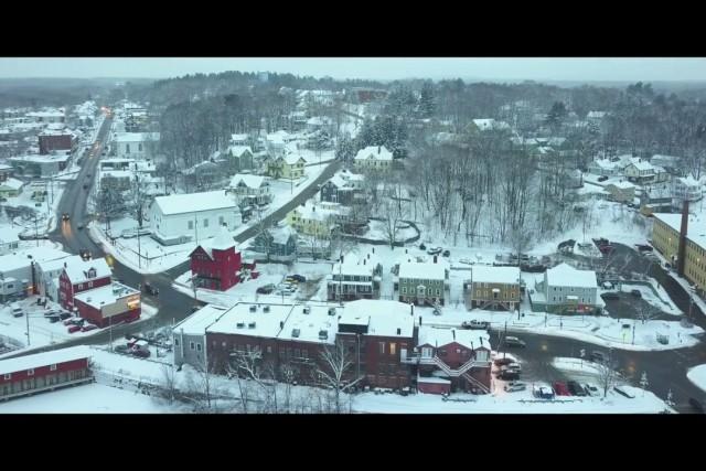 Winter Flight Through Somersworth, New Hampshire