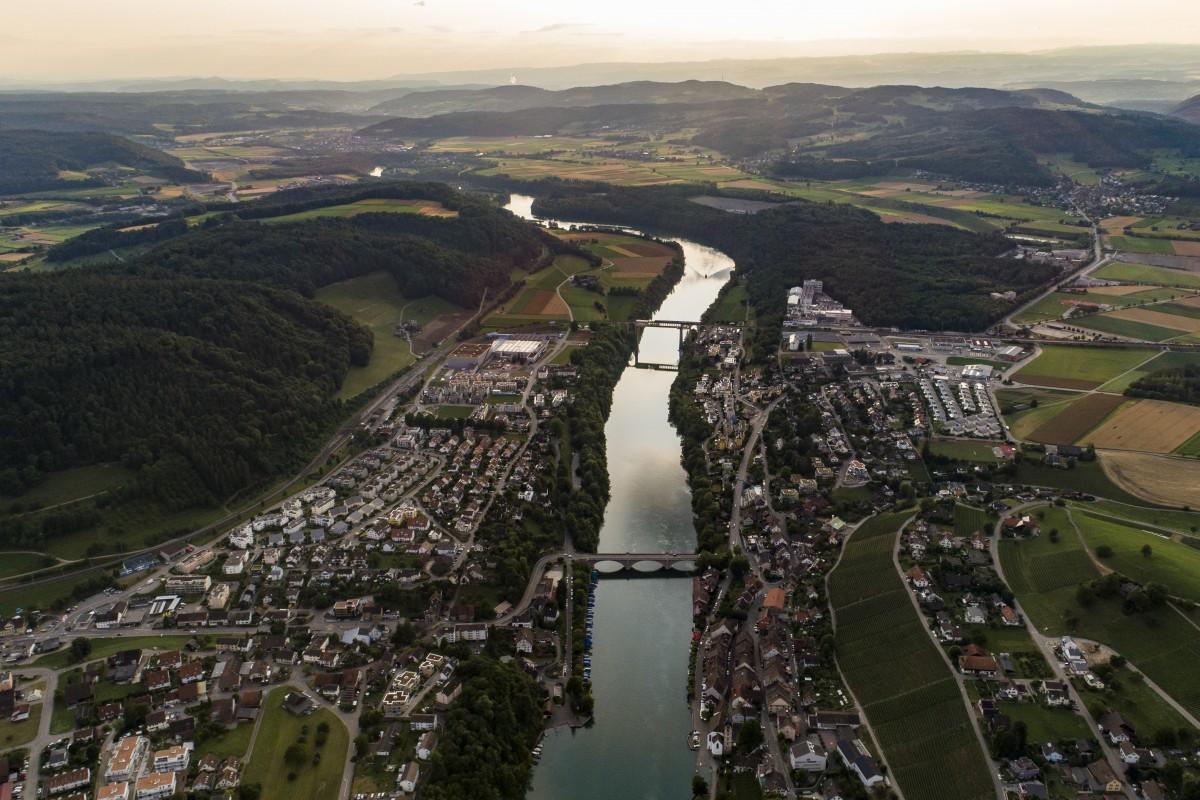 Eglisau and Rhine River, Switzerland