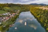 Eglisau and Rhine River, Switzerland