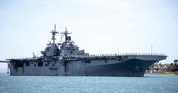 U.S. Warship Took Down Iranian Drone Using New 'Jamming' Technology – Forbes