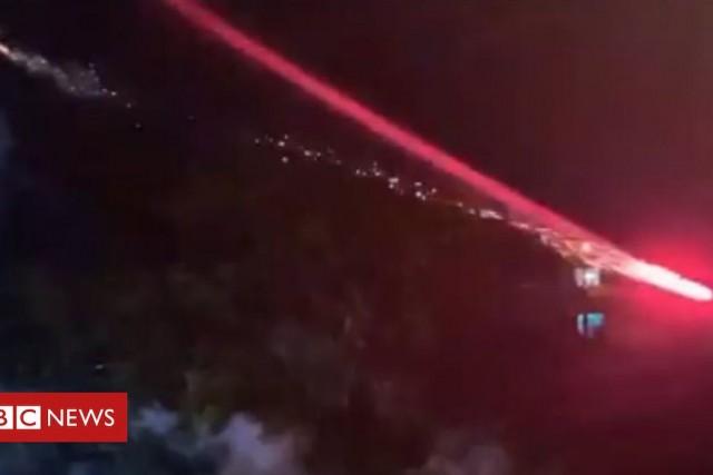 Firework drone 'false news' says Instagram star Lucas Albert – BBC News