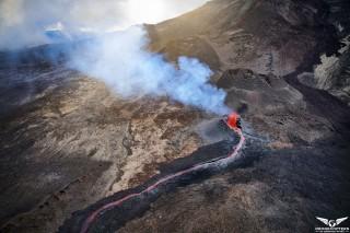 Volcano in eruption