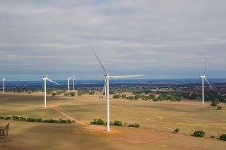 Wind Farm, Wind Turbine – Aerial View from Hexam, Victoria