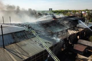 Großbrand – Strabag Halle