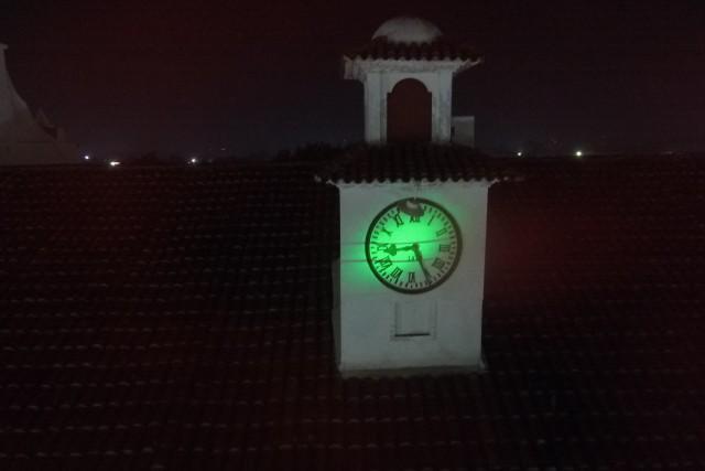 Reloj, iglesia, chalchuapa, santa ana, el salvador.