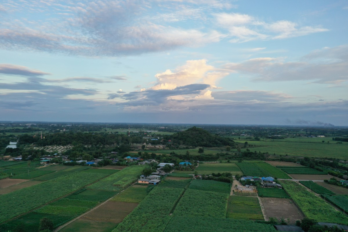 Kanchanaburi Farmland at sunset