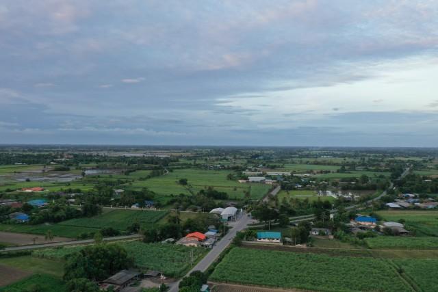 Kanchanaburi Farmland at sunset