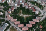 Apartment complex from top