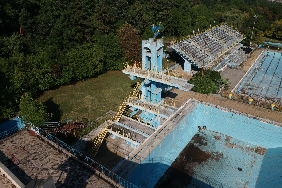 Abandoned water pool Maria Luisa
