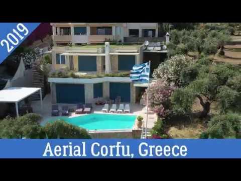 Aerial Corfu, Greece