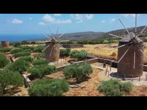 Aerial video above Crete 4K. Part 1