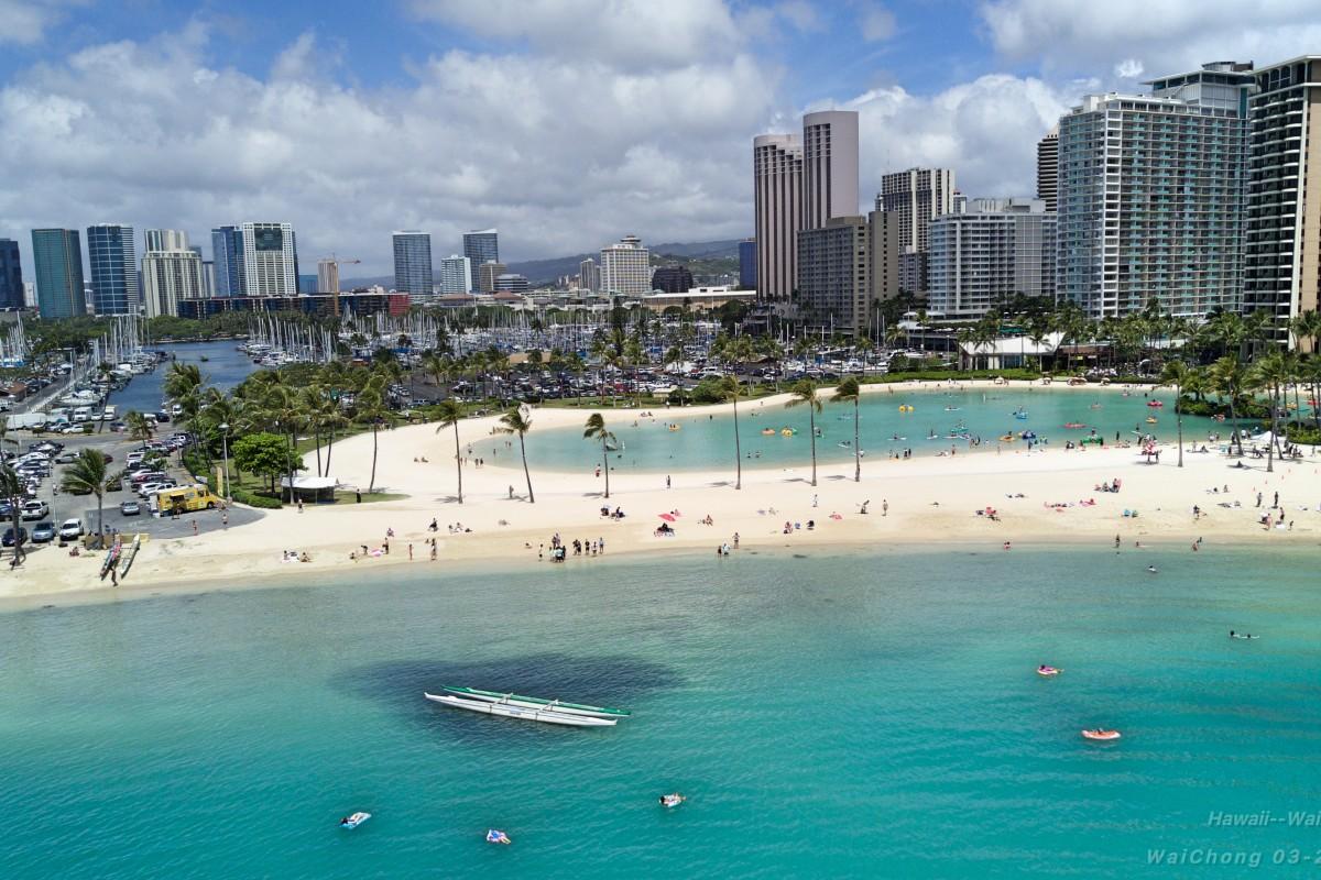 Waikiki Beach Honolulu Hawaii Usa Dronestagram