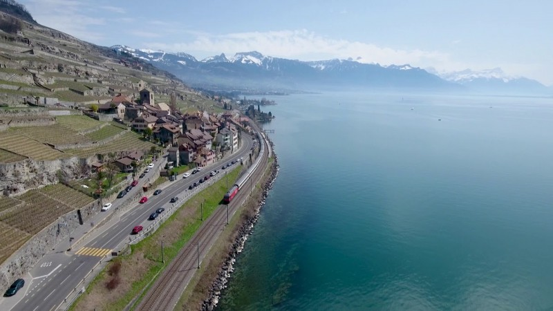 Lavaux vineyard terraces, Lake Geneva, Switzerland