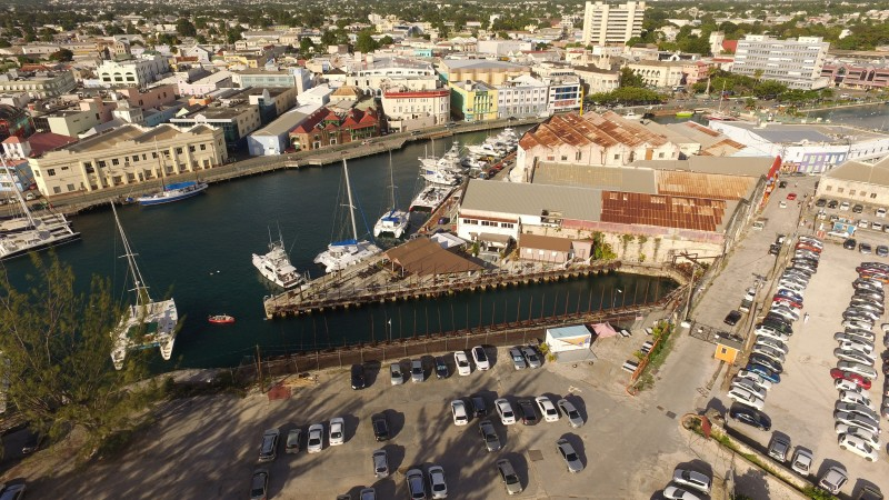 A View Of The Historic Screwdocks In Barbados