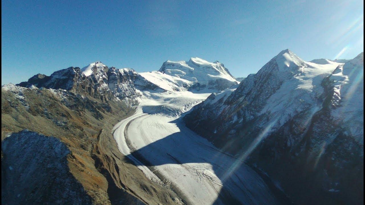 Parrot Disco Drone Flight 1000m up in Alps Mountain Glacier at 3200m altitude !!!