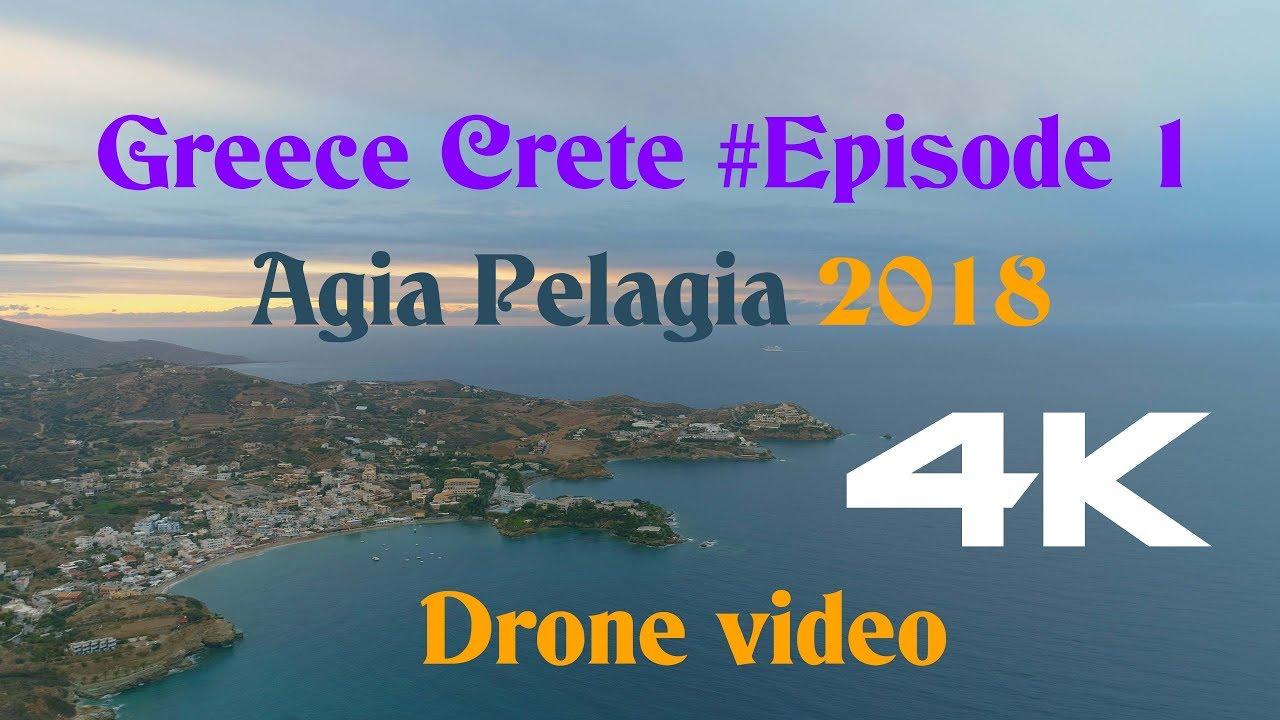 Crete Greece (Agia Pelagia 2018) 4K drone video