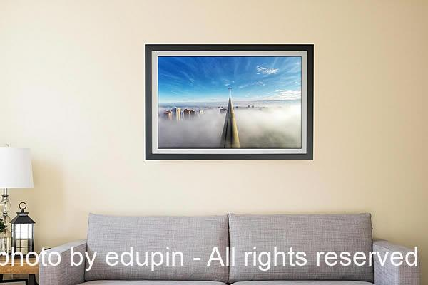 Drone picture frame print